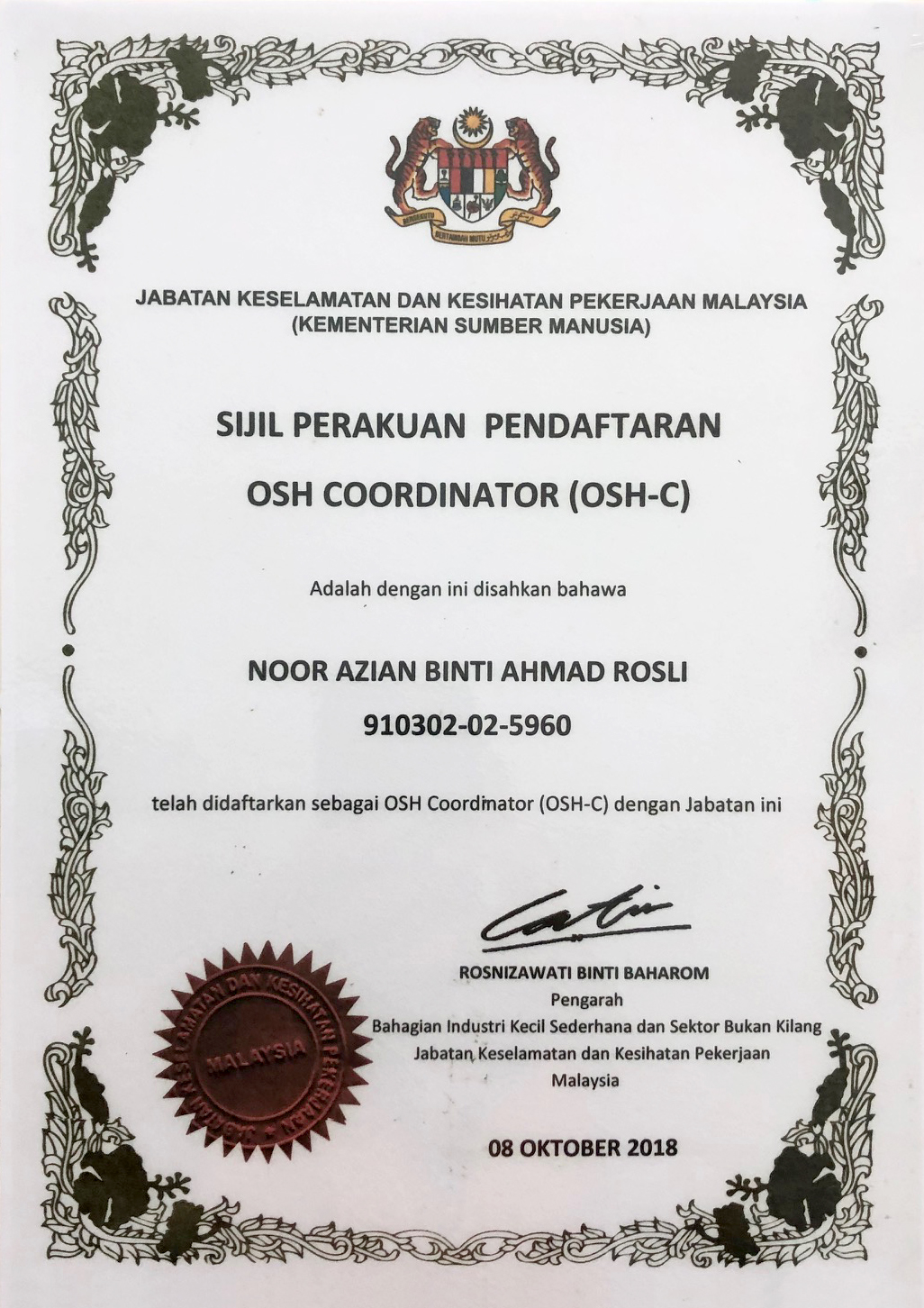 OSH Coordinator 2018